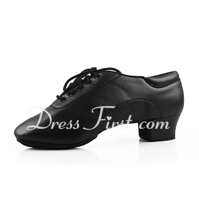 Men's Kids' Leatherette Flats Ballroom Dance Shoes (053013129)