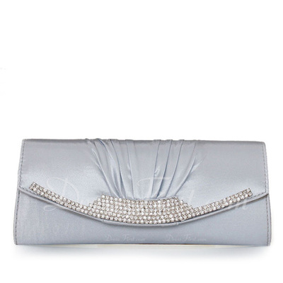 Gorgeous Satin With Rhinestone Clutches (012011033)