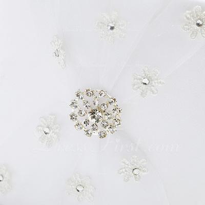 Beautiful/Elegant Flower Basket in Satin With Rhinestones (102037349)