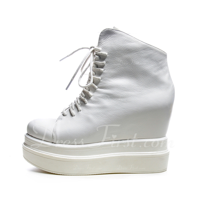 Piel Tipo de tacón Plataforma Botas al tobillo zapatos (088054392)