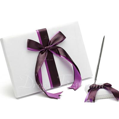 Bows Ribbons Guestbook & Pen Set (101036831)