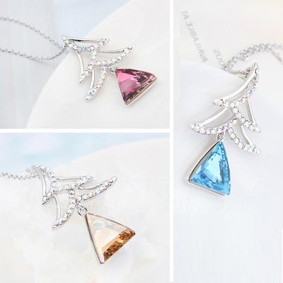 Kristal/Platin Kaplama Bayanlar Kolye (011057577)