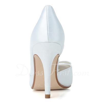 Kadın Satin İnce Topuk Kapalı Toe Pompalar Ile Ilmek (047057095)