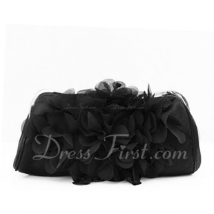 Gorgeous Satin/Chiffon With Flower Clutches (012006681)