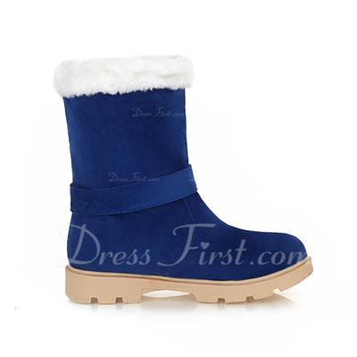 Süet Düz Topuk Ayak bileği Boots Ile Ilmek ayakkabı (088056328)