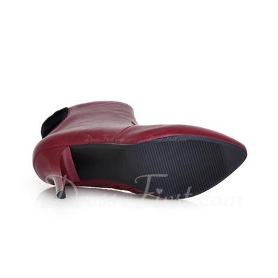 Cuero Tacón stilettos Botas al tobillo zapatos (088054406)