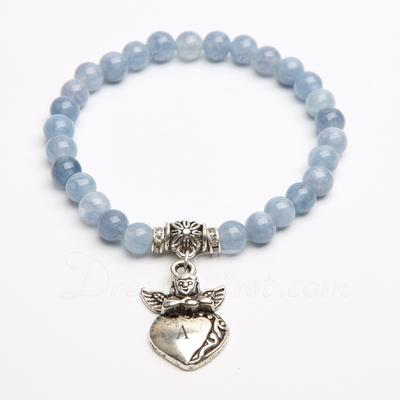 Personalized Artificial Aquamarine Child's Bracelets (011054902)