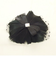 Gorgeous Rhinestone/Net Yarn/Feather Fascinators