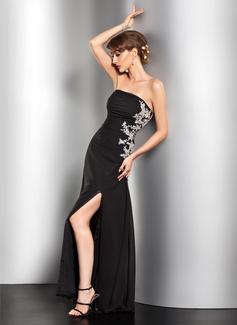 Çan/Prenses Askısız Uzun Etekli Chiffon Gece Elbisesi