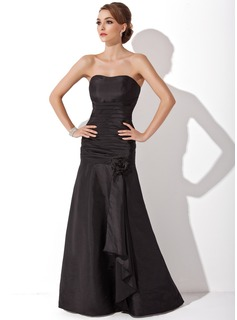 Trumpet/Mermaid Sweetheart Floor-Length Taffeta Mother of the Bride Dress With Ruffle Cascading Ruffles
