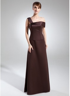 Çan/Prenses Off-Omuz Uzun Etekli Satin Gelin Annesi Elbisesi