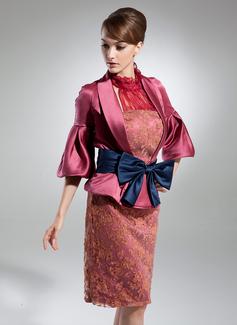 Wąska Kantar Do Kolan Charmeuse Lace Suknia dla Mamy Panny Młodej