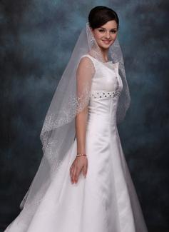 Jednowarstwowe Walc ślubny Welony Z Cięte Bez Lamówki