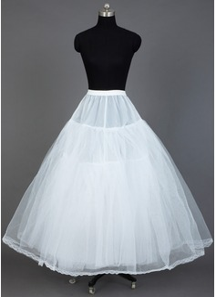 Women Tulle Netting/Taffeta Floor-length 3 Tiers Petticoats