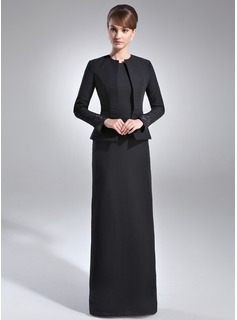 Sheath Scoop Neck Floor-Length Chiffon Mother of the Bride Dress With Sequins