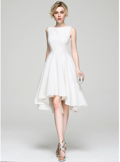 Robe Princesse Col rond Asymétrique Satiné Robe de cocktail