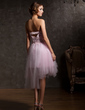 A-Line/Princess Sweetheart Asymmetrical Tulle Homecoming Dress With Ruffle Beading Flower(s) (022009629)
