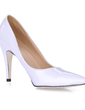 Women's Patent Leather Stiletto Heel Pumps Closed Toe shoes (085017484)