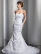 Trumpet/Mermaid Sweetheart Chapel Train Tulle Wedding Dress With Beading Appliques Lace (002011967)