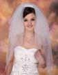 Czterowarstwowe Opuszki palca ślubne welony Z Cięte Bez Lamówki (006005420)