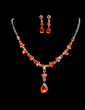 Gorgeous Alloy/Rhinestones Ladies' Jewelry Sets (011028376)
