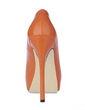 Patent Leather Stiletto Heel Pumps Platform Closed Toe shoes (085015256)