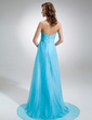 Empire Sweetheart Asymmetrical Chiffon Evening Dress With Ruffle Beading (017016370)