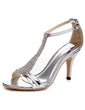 Women's Patent Leather Stiletto Heel Sandals Pumps With Rhinestone Buckle shoes (087055839)