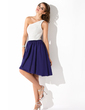 A-Line/Princess One-Shoulder Knee-Length Chiffon Homecoming Dress With Ruffle (022009151)