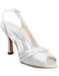 Saten İnce Topuk Burnu Açık Sandalet Düğün Ayakkabıları Ile Toka Fırfır (047011048)