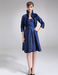 A-Line/Princess Sweetheart Knee-Length Taffeta Mother of the Bride Dress With Ruffle (008006420)