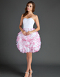A-Line/Princess Sweetheart Short/Mini Organza Homecoming Dress With Ruffle (022015565)