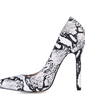 Leatherette Stiletto Heel Pumps Closed Toe With Animal Print shoes (085017485)