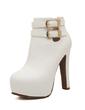 Suni deri Kalın Topuk Ayak bileği Boots Ile Toka ayakkabı (088056665)