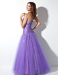 Ball-Gown Sweetheart Floor-Length Taffeta Tulle Prom Dress With Ruffle Beading (018005057)