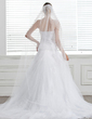 A-Line/Princess Sweetheart Chapel Train Tulle Wedding Dress With Beading Appliques Lace (002004771)