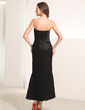Sheath/Column Sweetheart Ankle-Length Lace Holiday Dress With Ruffle (020014194)