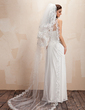 Four-tier Chapel Bridal Veils With Lace Applique Edge (006020415)