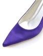 Women's Satin Stiletto Heel Closed Toe Pumps (047039724)