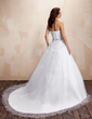 Ball-Gown Sweetheart Chapel Train Tulle Wedding Dress With Ruffle Beading (002011706)