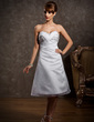 Empire Sweetheart Knee-Length Organza Homecoming Dress With Ruffle Beading Sequins (022010468)