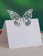 Butterfly Design Pearl Paper Place Cards (set of 12) (131037425)