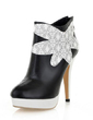 Leatherette Stiletto Heel Ankle Boots shoes (088054389)