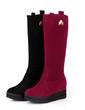 Suede Wedge Heel Mid-Calf Boots shoes (088054720)