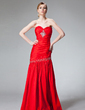 Trumpet/Mermaid Sweetheart Floor-Length Taffeta Evening Dress With Ruffle Beading Sequins (017004163)