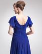 Çan/Prenses V Yaka Uzun Etekli Chiffon Gelin Annesi Elbisesi (008005691)