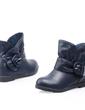 Cuero Tacón plano Botas al tobillo con Hebilla zapatos (088054384)