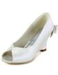 Women's Satin Wedge Heel Peep Toe Sandals With Bowknot Rhinestone (047033127)