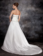 A-Line/Princess Sweetheart Chapel Train Charmeuse Wedding Dress With Ruffle Beading (002016936)