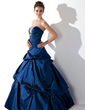 Ball-Gown Strapless Floor-Length Taffeta Quinceanera Dress With Ruffle Beading (021020667)